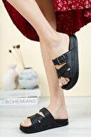 Fogs Kadın Dolgu Topuk Terlik Ortopedik Günlük Bayan Terlik Rahat Şık Topuklu Terlik