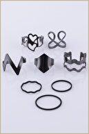 Ervalina 8'li Yüzük Ve Eklem Yüzük Set