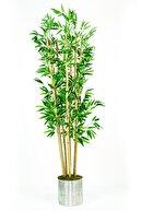 İremÇiçekçilik Metal Saksıda Bambu Yapay Ağaç