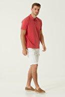 Network Erkek Comfort Fit Kırmızı Nakış Detaylı T-shirt 1078122