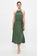 TRENDYOLMİLLA Haki Kuşaklı Elbise TWOSS19EL0155