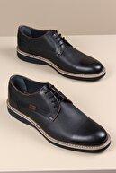 ayakPARK Erkek Siyah Hakiki Deri Klasik Günlük Ayakkabı