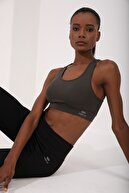 Tommy Life Haki Kadın Sırt Detaylı Slim Fit U Yaka Spor Büstiyer