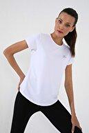 Tommy Life Beyaz Kadın Basic Kısa Kol Standart Kalıp O Yaka T-shirt - 97144