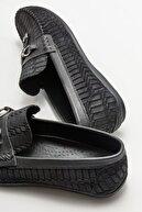 Elle Siyah Deri Erkek Günlük Loafer