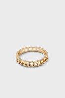 Ervalina 6'lı Düğüm Yüzük Seti Altın Rengi