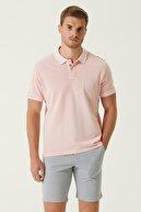 Network Erkek Comfort Fit Pembe Nakış Detaylı T-shirt 1078122