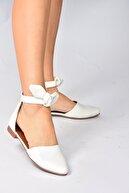 Fox Shoes Beyaz Kadın Babet H726761509