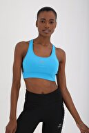 Tommy Life Kadın Turkuaz Çapraz Sırt Detaylı Slim Fit U Yaka Spor Büstiyer - 97121