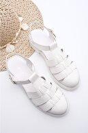 Marjin Kadın Sandalet beyaz