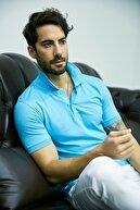 Sateen Men Erkek Turkuaz Polo Yaka Slimfit T-Shirt STN844ETS111