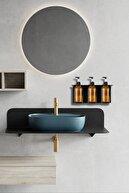 TARMOSER 3'lü Set Sıvı Sabunluk, Banyo Şampuanlık , Duş Jelilik, Sıvı Yağ Şişesi
