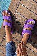 İnan Ayakkabı Kadın Mor Tokalı Terlik