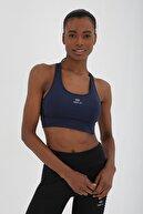 Tommy Life Kadın İndigo Çapraz Sırt Detaylı Slim Fit U Yaka Spor Büstiyer - 97121