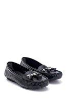 Derimod Kadın Kroko Desenli Püsküllü Loafer Ayakkabı