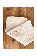 Çapa Home Bej Renk Nakışlı Ayak Havlusu 3 Adet 50x70