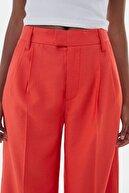 Bershka Kadın Kırmızı Wide Leg Pantolon