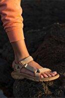 Nstil Kadın Günlük Yazlık Tatil Sandaleti Bej