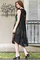 Chiccy Kadın Siyah Geometrik Renkli Taş Baskılı Elbise M10160000EL94843