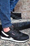 Giyyin Unisex Siyah Beyaz Spor Ayakkabı