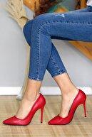 WMİLANO Kırmızı Cilt Kadın Stiletto