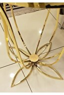 Hcstil Metal Ayak Gold Renk Lale Yan Sehpa