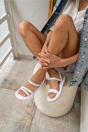 ANGELİNA JONES Marylan Kadin Beyaz Vegan Deri Sandalet