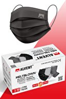 ALVENT Siyah Meltblown Maske 50 Adet - Elastik Kulaklı - En Az %98 Koruma - Sertifikalı -tıp2r