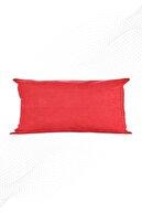 ÖZENEV Kırmızı Kırlent Kılıfı Dekoratif Düz Sade Panoroma-113