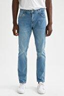Defacto Erkek Yeşil Sergio Regular Fit Normal Bel Boru Paça Jean Pantolon U6357AZ21SMNM