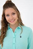 US Polo Assn Yesıl Kadın Gömlek