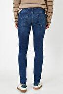Koton Erkek Mavi Super Skinny Cepli Pantolon