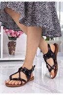 Espardile Cass Siyah Halatlı Sandalet
