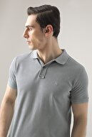 D'S Damat Regular Fit Mavi Pike Dokulu T-shirt