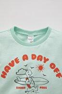Defacto Erkek Bebek Slogan Baskılı Kısa Kollu Pamuklu Tişört