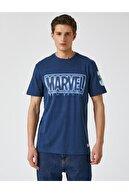 Koton Erkek Lacivert Tshirt Lisanslı Pamuklu