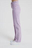 CROSS JEANS Diana Lila Rengi Yüksek Bel Dad Straight Fit Pantolon C 4517-006