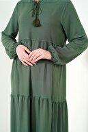 Bigdart 1627 Yaka Bağcıklı Tesettür Elbise