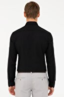 Pierre Cardin Siyah Slim Fit Oxford Gömlek