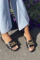 İnan Ayakkabı Kadın Siyah Zincirli Terlik