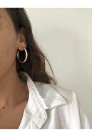 The Y Jewelry Kadın Altın Renk Halka Küpe
