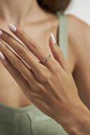 Ninova Silver Ninova Çapraz Damla Model Rose Kaplama Gümüş Yüzük