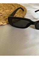 Makro Optik Unisex Mat Siyah Vintage Güneş Gözlüğü