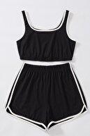 Imoda Kadın Siyah Askılı Pamuklu Pijama Takımı
