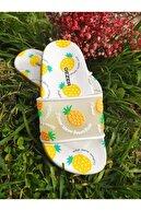 Gezer Kız Çocuk Sarı Meyveli Kaydırmaz Taban Plaj Havuz Terliği