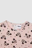 Defacto Kız Çocuk Mickey Mouse Lisanslı Kısa Kollu Pijama Takımı