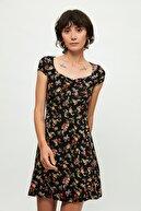 Mango Kadın Kırmızı Çiçekli Elbise 51030736