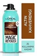 L'Oreal Paris Beyaz Saçlar Için Kapatıcı Altın Kahve Saç Spreyi -magic Retouch 10 Chatain Dore 75 Ml