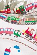 LadyModa Kışlık Bebek Nevresim Takımı Flanel (Pazen)  Baby Train