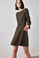 TRENDYOLMİLLA Kahverengi Kemerli Elbise TWOAW21EL1409